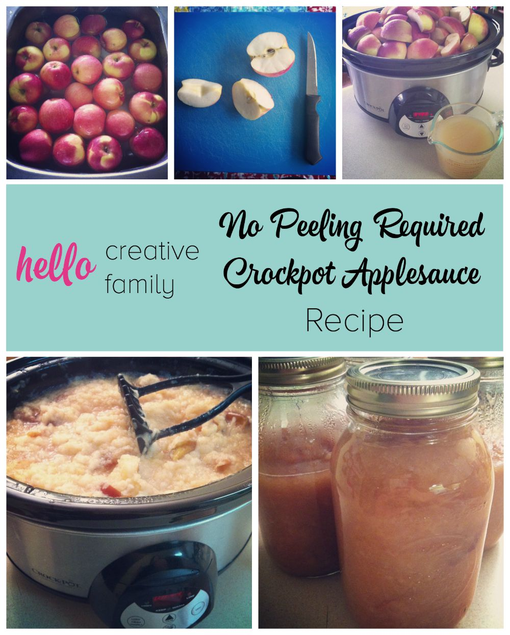 Everyone knows the worst part of making applesauce is peeling the apples. Not with this recipe! No Peeling Required Crockpot Applesauce Recipe