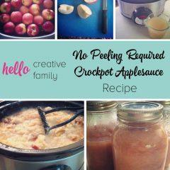 No Peeling Crockpot Applesauce Recipe
