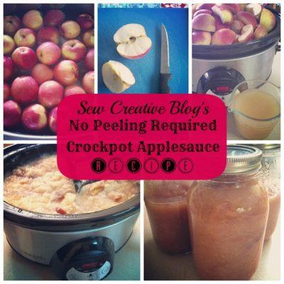 Reader Favorite Revist- No Peeling Required Crockpot Applesauce Recipe