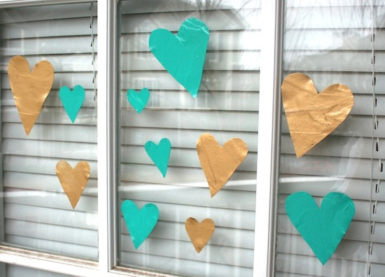 Valentine Craft Heart Glass Clings from ModgePodgeRocks.com