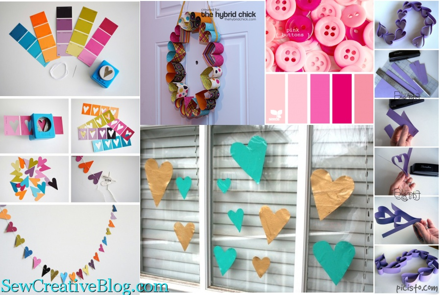 Weekly Inspiration Valentine's Day Decor Ideas from Pinterest from SewCreativeBlog.com