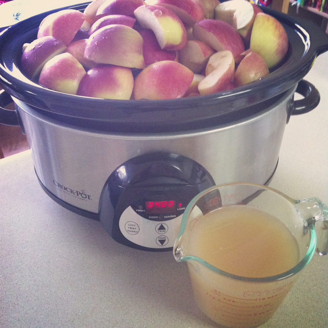 No peel crockpot apple sauce from SewCreativeBlog.com