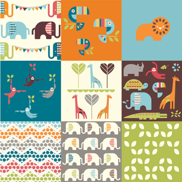 Eye Candy- Birch Fabrics Safari Soiree Line Designed by Dan Stiles