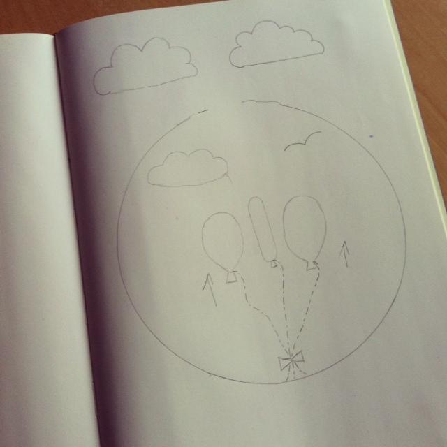 Floating Away Sketch for Hoopla for SewCreativeBlog.com