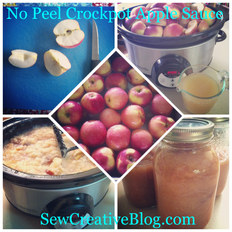 No Peel Crock Pot Apple Sauce from SewCreativeBlog.com