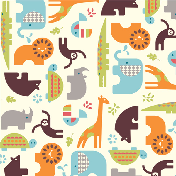 Eye candy birch fabrics safari soiree line designed by for Childrens jungle print fabric