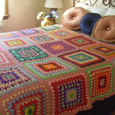 Vintage Finds- Granny Square Crochet Afghans