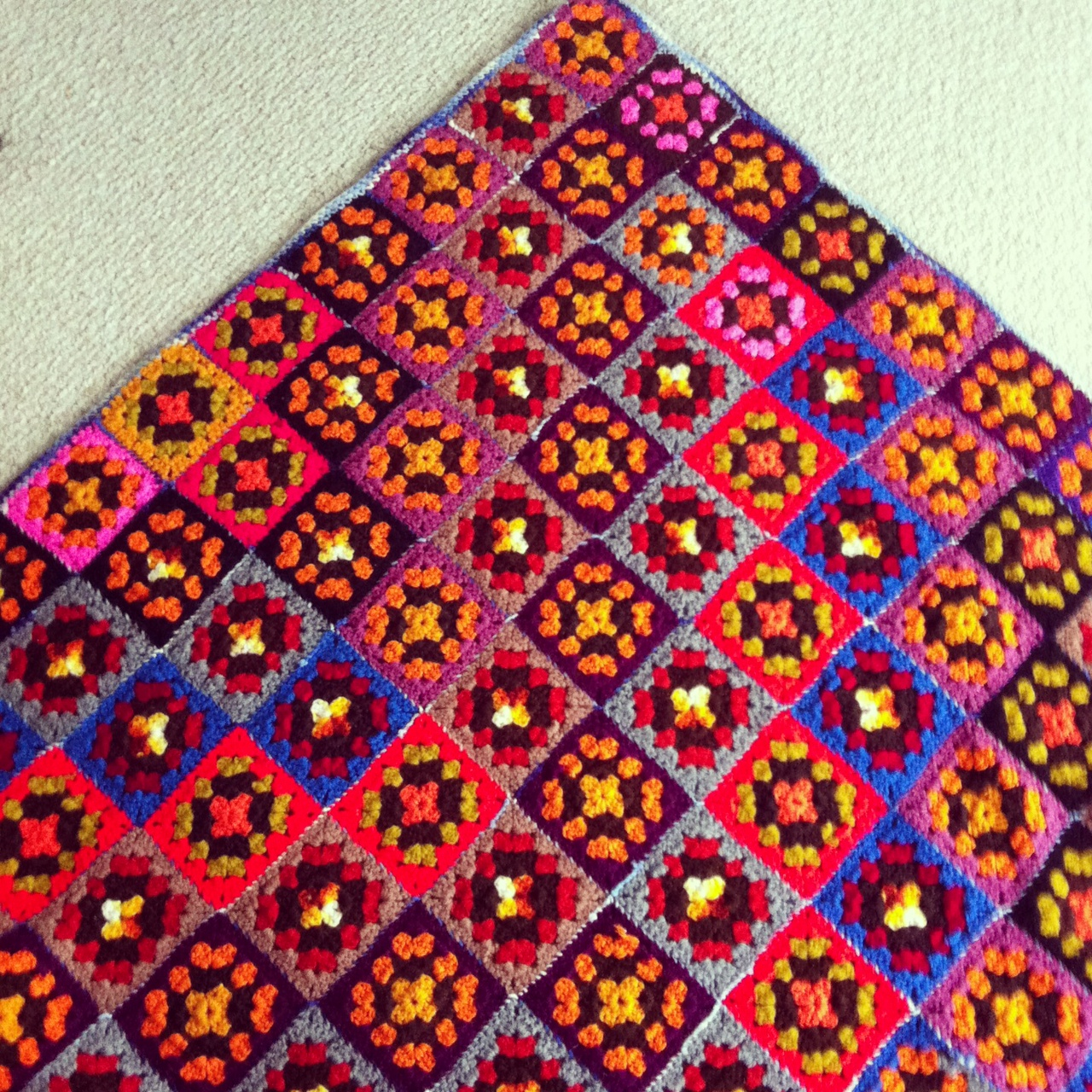 Autumn Colors Granny Square Afghan