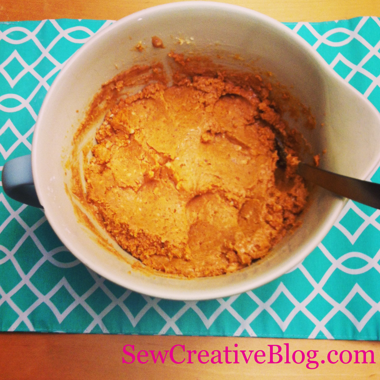 Chocolate Peanut Butter Bar Recipe Peanut Butter Mixture In Bowl
