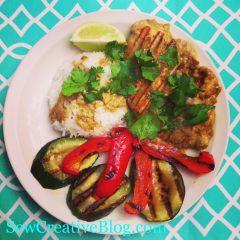 Coconut Lime Chicken Recipe Menu Board Card #1