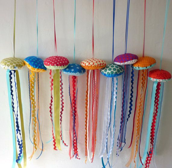 DIY Fabric Scrap Jellyfish