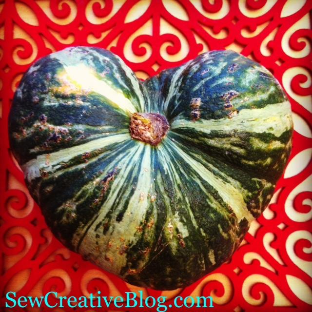 Kabocha heart photo by Sew Creative Blog
