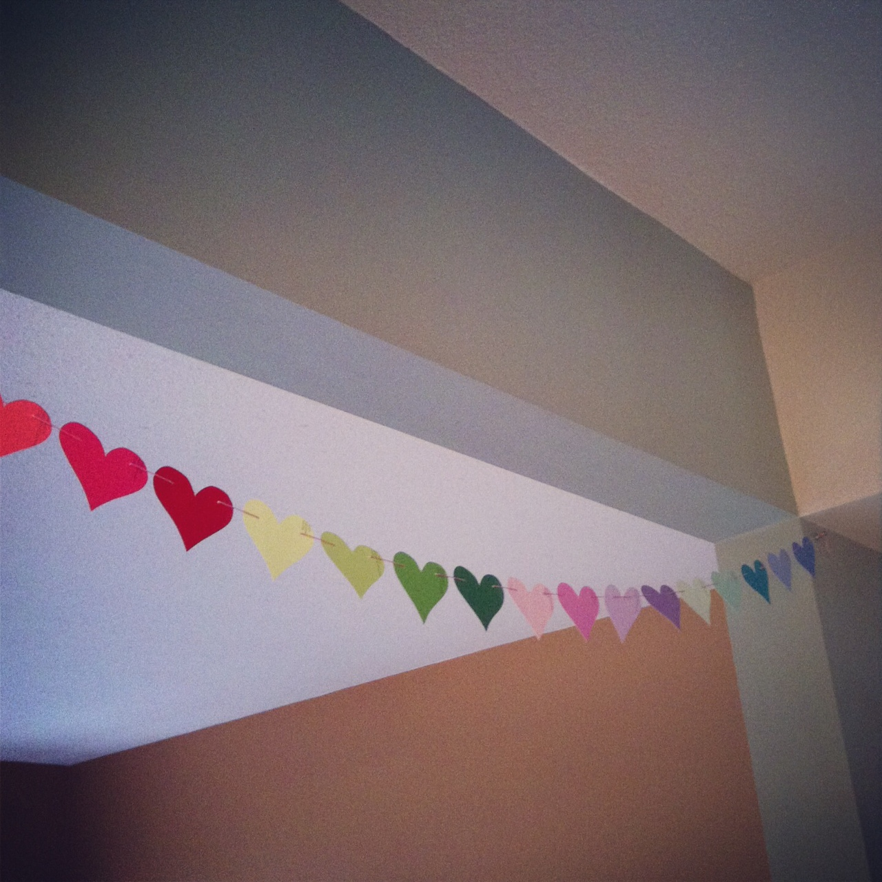 Paint Chip Heart Garlands at Sew Creative