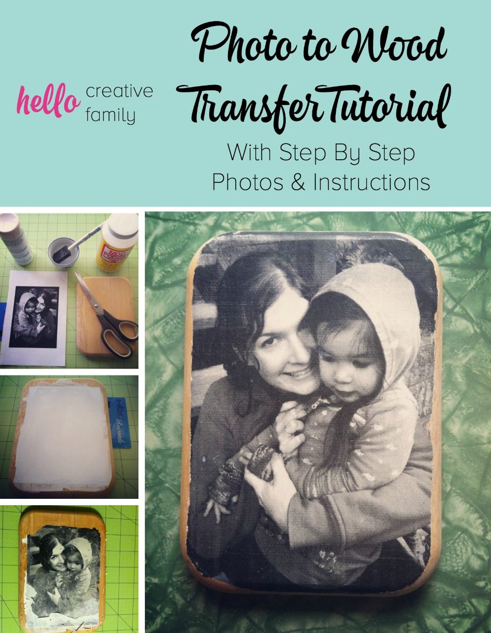 Create a one of a kind gift with this Photo to Wood Transfer Tutorial. With Step By Step Photos and Instructions this tutorial will give you great results.