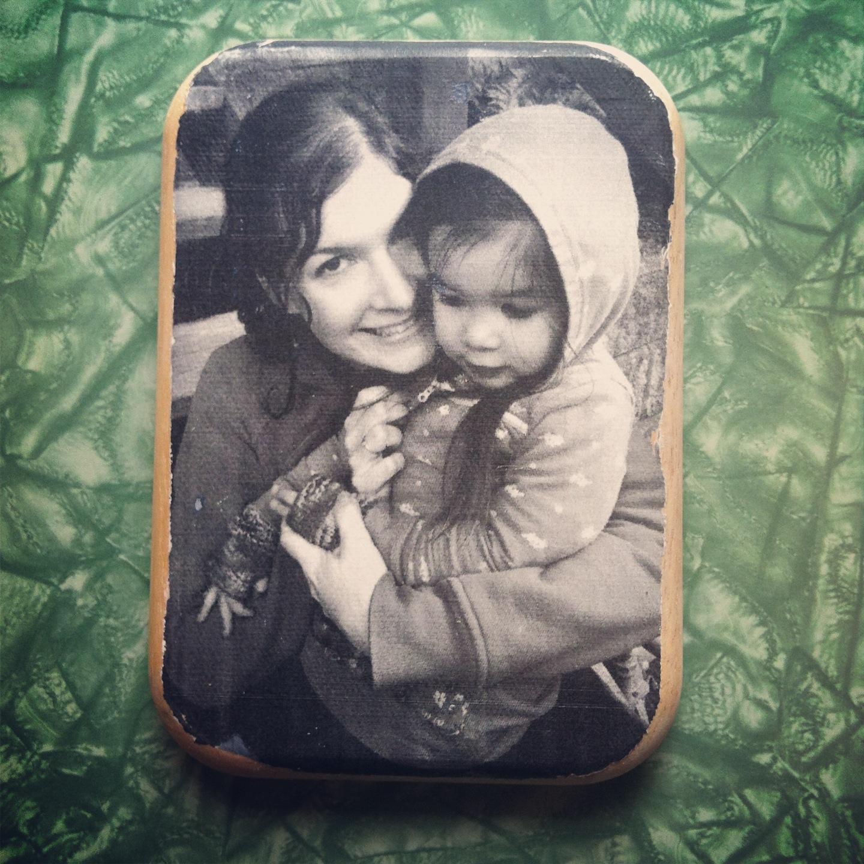 DIY Wood Slice Photo Transfer Parental
