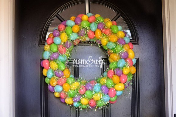 Plastic Easter Egg and Easter Basket Filler Wreath