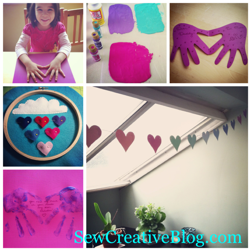 Valentine's Day Crafts with Kids at Sew Creative Blog