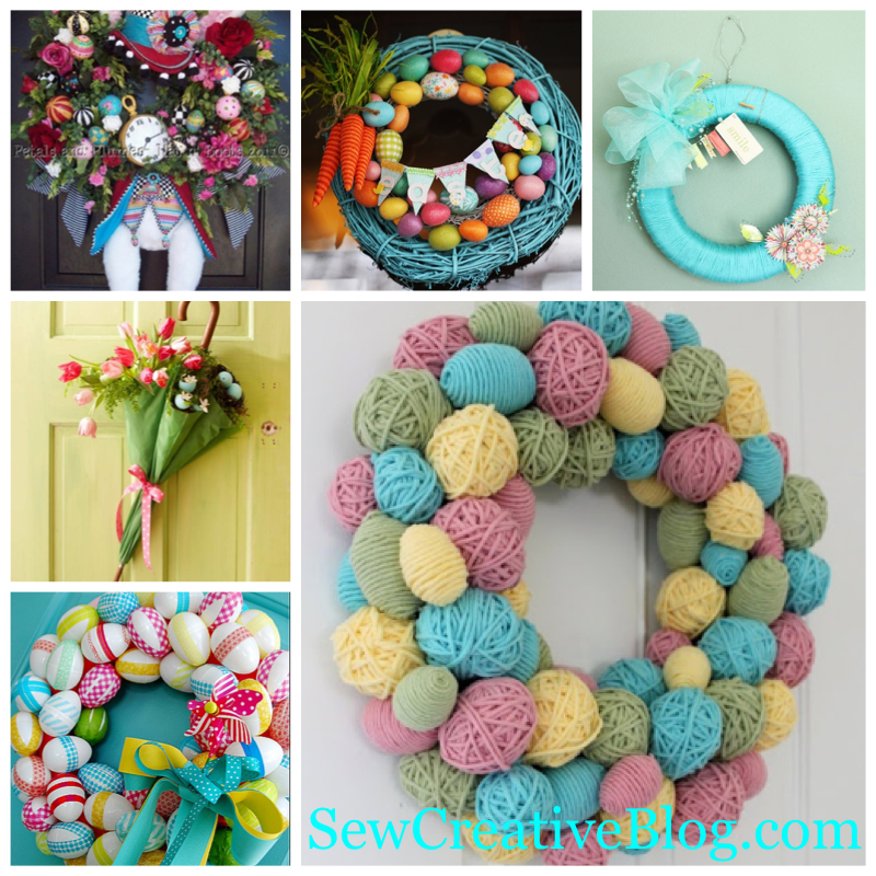 Weekly Inspiration Easter and Spring Wreath and Front Door Decorations