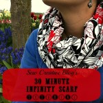 30 minute infinity scarf sewing tutorial pattern tons of photos and instructions from Sew Creative