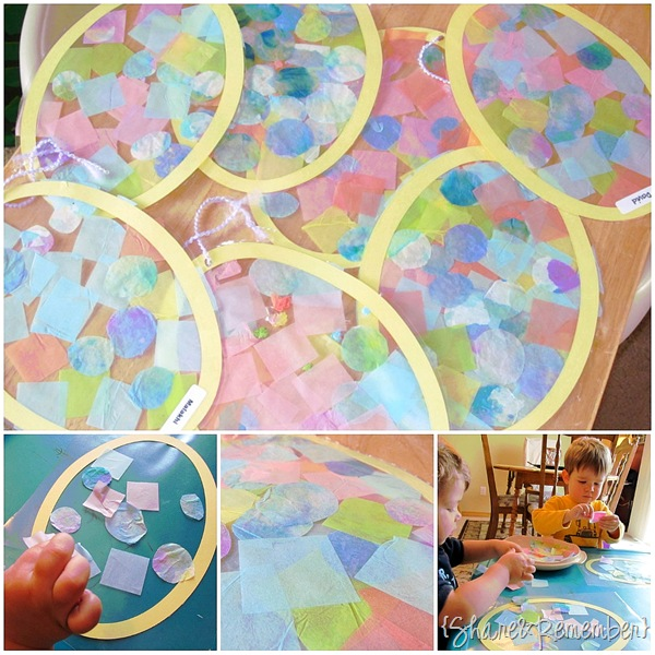 Contact paper Tissue Egg Window Decorations