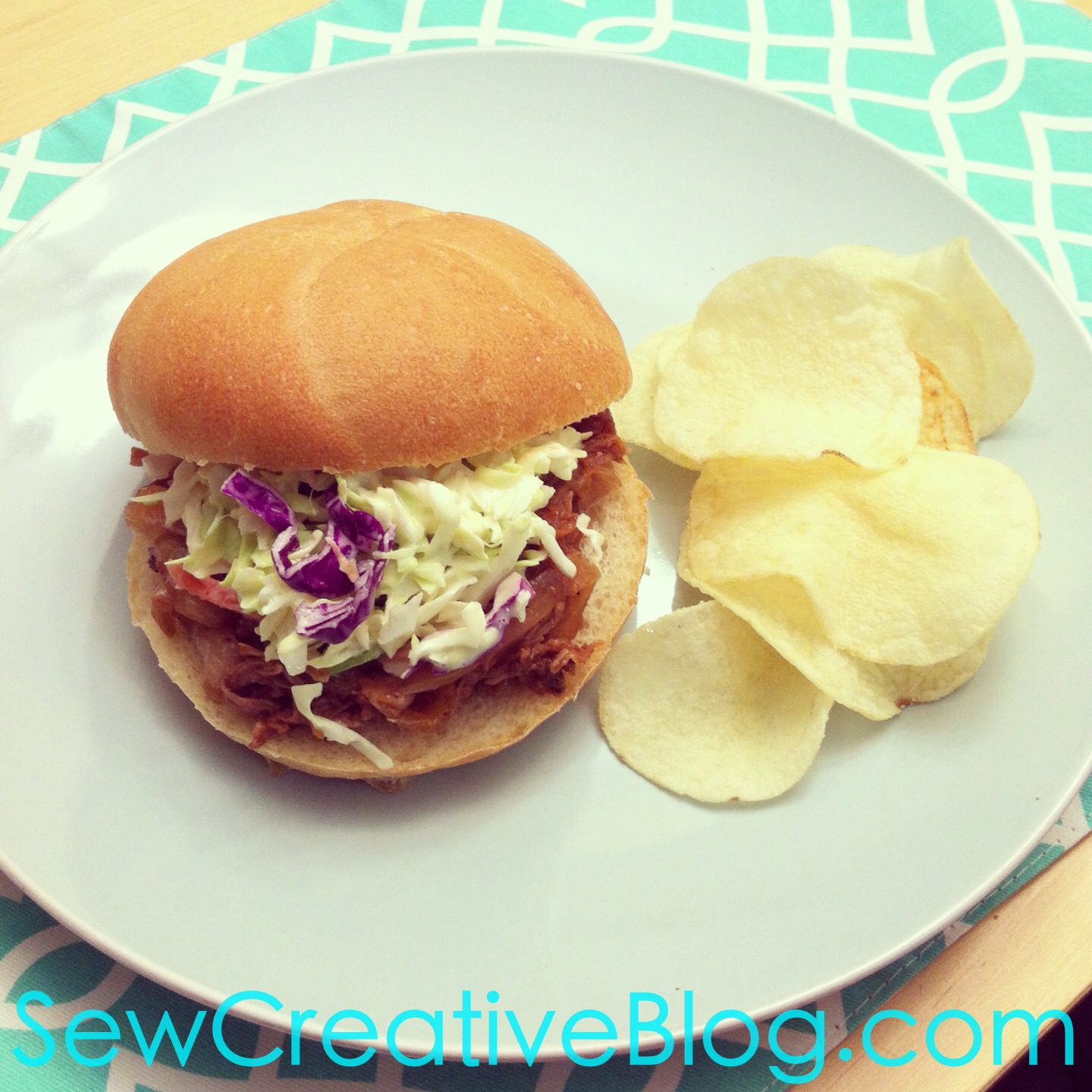 Crockpot Soda Pop Pulled Pork Sandwich Recipe from Sew Creative 2