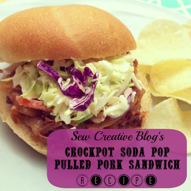 Crockpot Soda Pop Pulled Pork Sandwich Recipe from Sew Creative FI