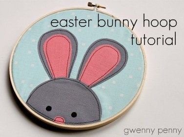Gwenny Penny Easter Bunny Embroidery Hoop Tutorial