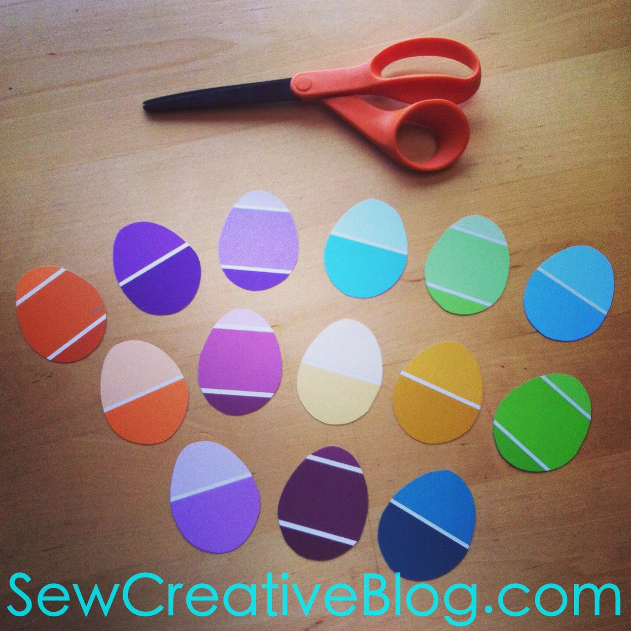 Paint Chip Easter Egg Garland Tutorial 3