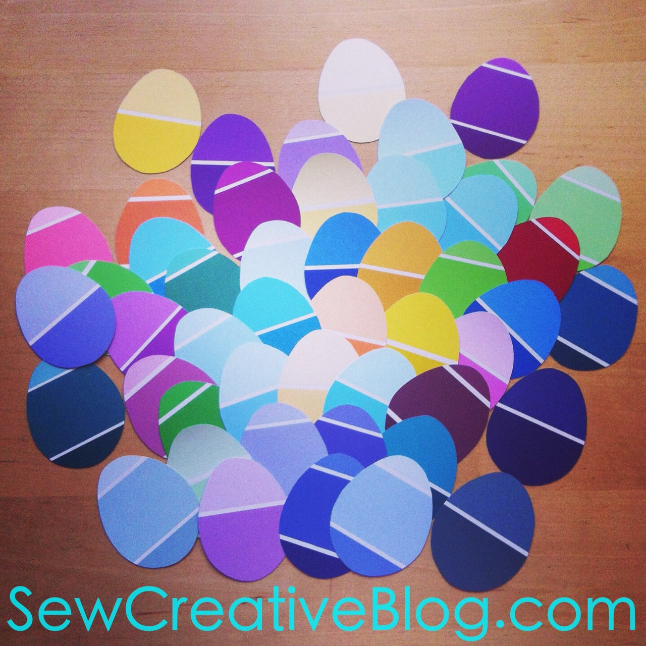 Paint Chip Easter Egg Garland Tutorial 4