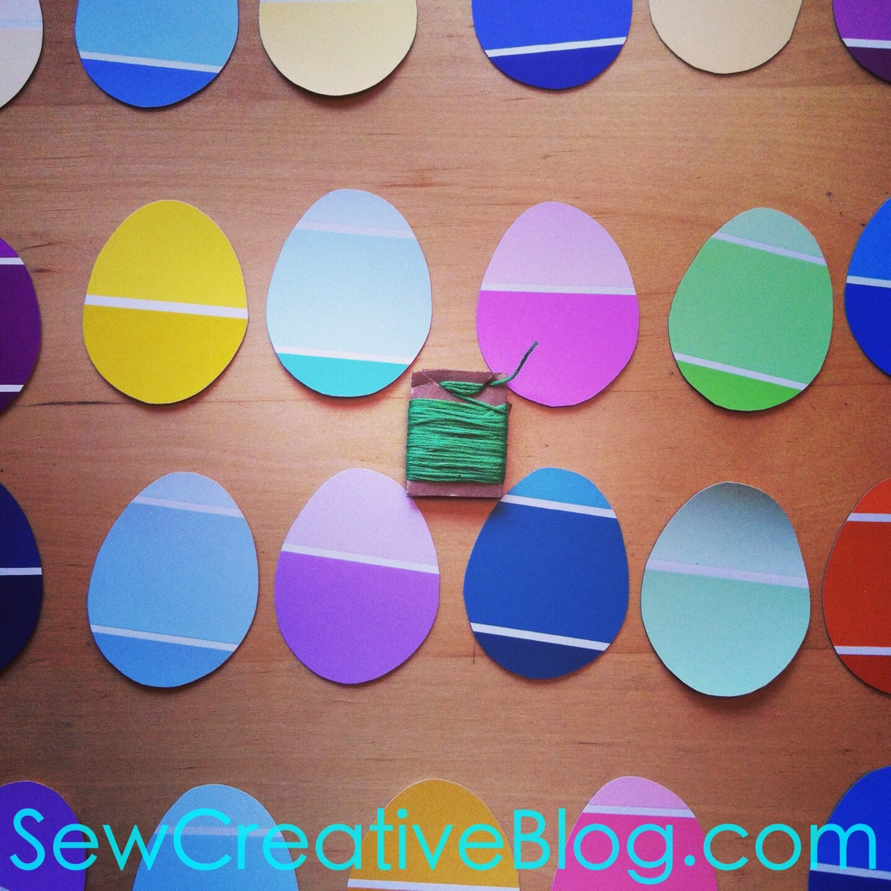 Paint Chip Easter Egg Garland Tutorial 5