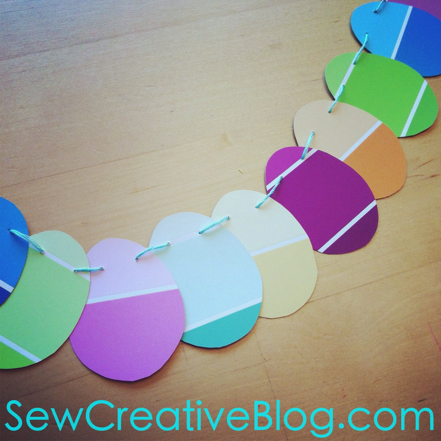 Paint Chip Easter Egg Garland Tutorial 8