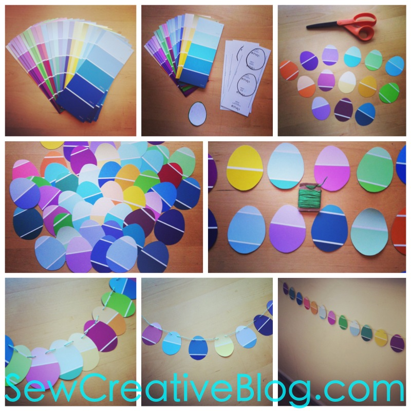 Paint Chip Easter Egg Garland Tutorial