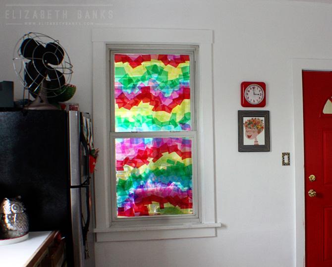 Rainbow Window Clings