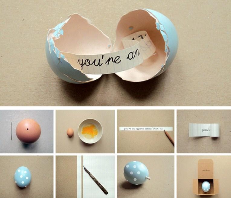 Secret Message Egg from Poppytalk