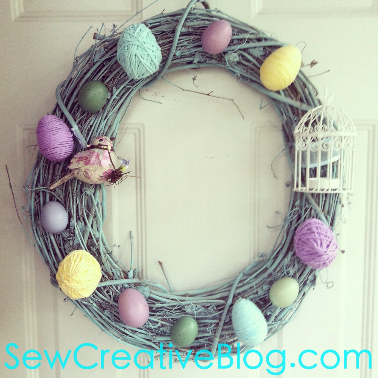 Spring Easter Wreath From Sew Creative Blog