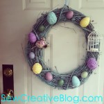 Spring Easter Wreath From SewCreativeBlog