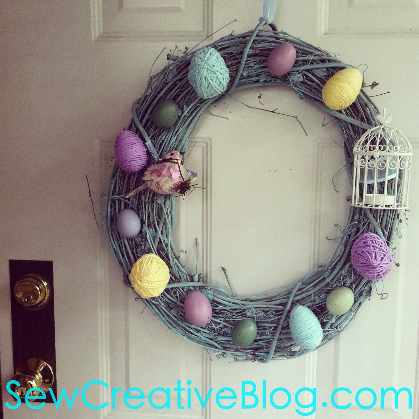 Spring Easter Wreath From SewCreativeBlog