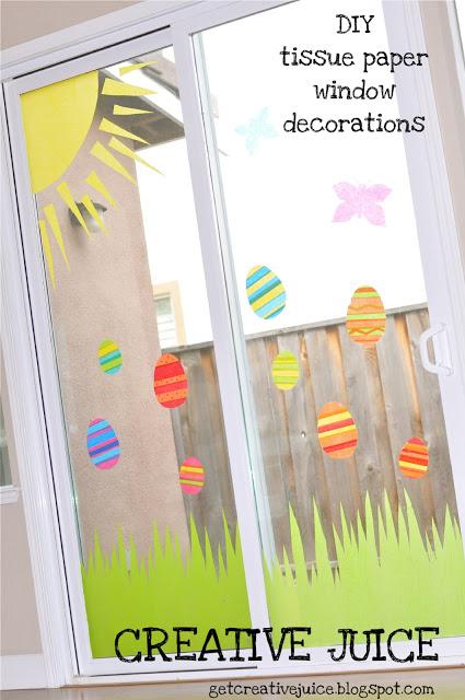 tissue paper window decorations