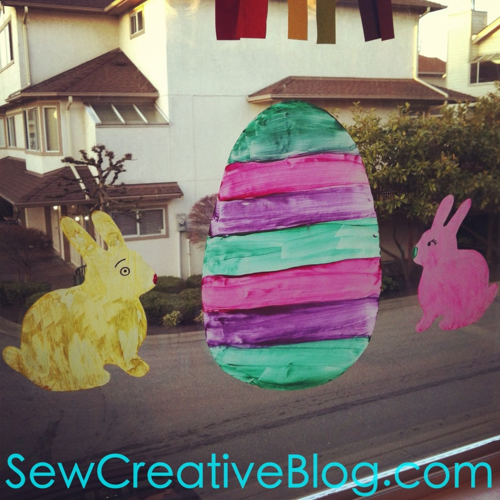Contact Paper Easter Bunnies and Egg Window Clings