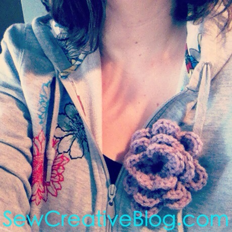 Crochet Flower on Sew Creative Blog