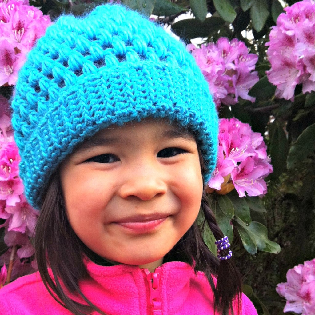 Crochet Patterns Hats For Toddlers : Sew Creative Crocheted Kids Slouch Hat Pattern- Great for Beginners ...