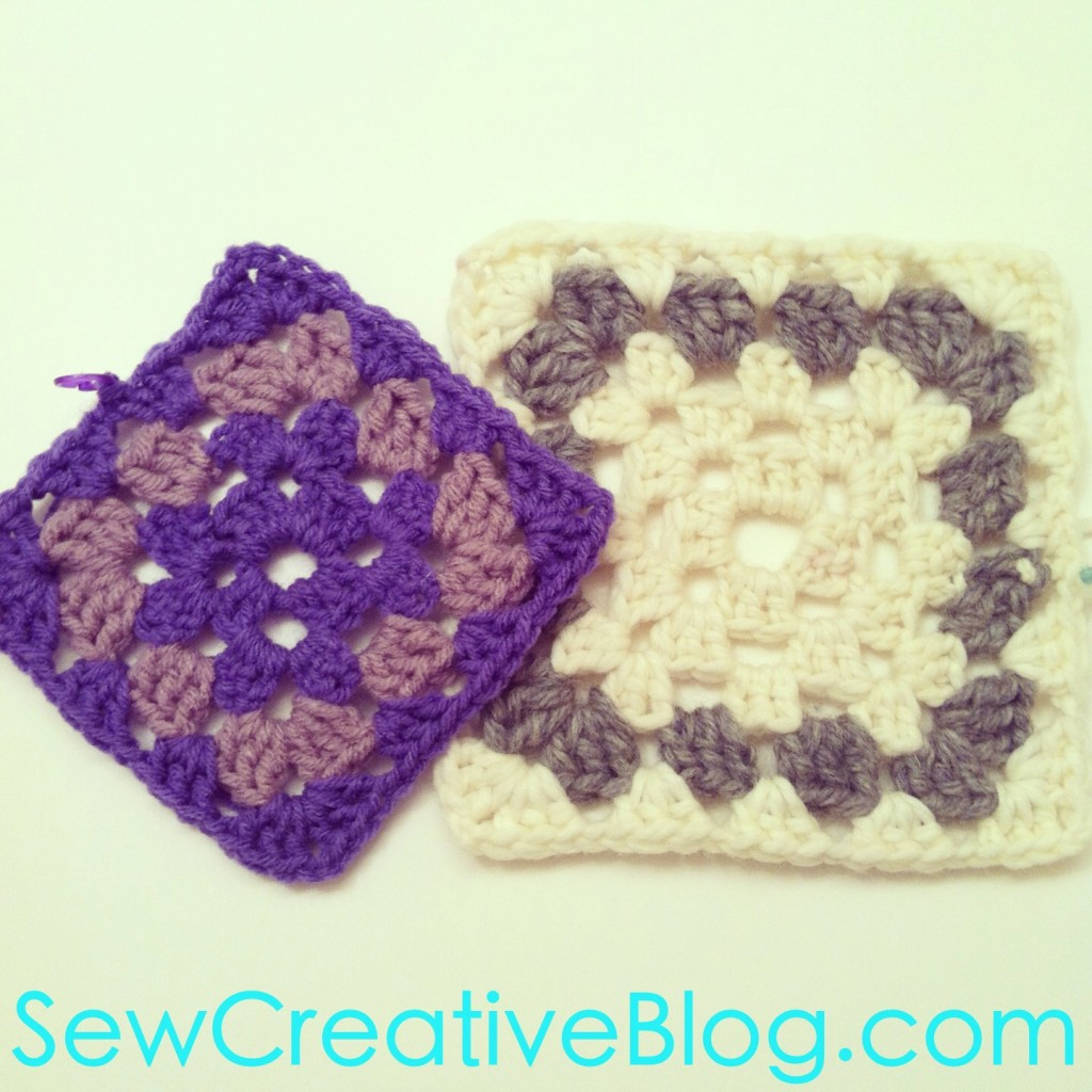 Granny Squares from Sew Creative Blog
