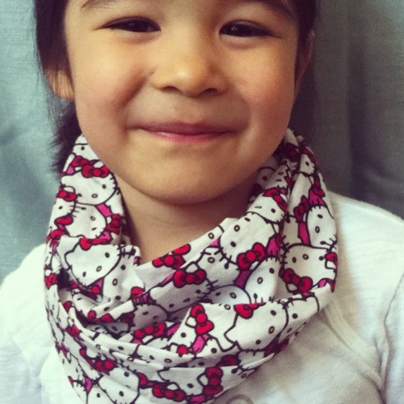 Hello Kitty kids infinity scarf from Lilikoi Lane