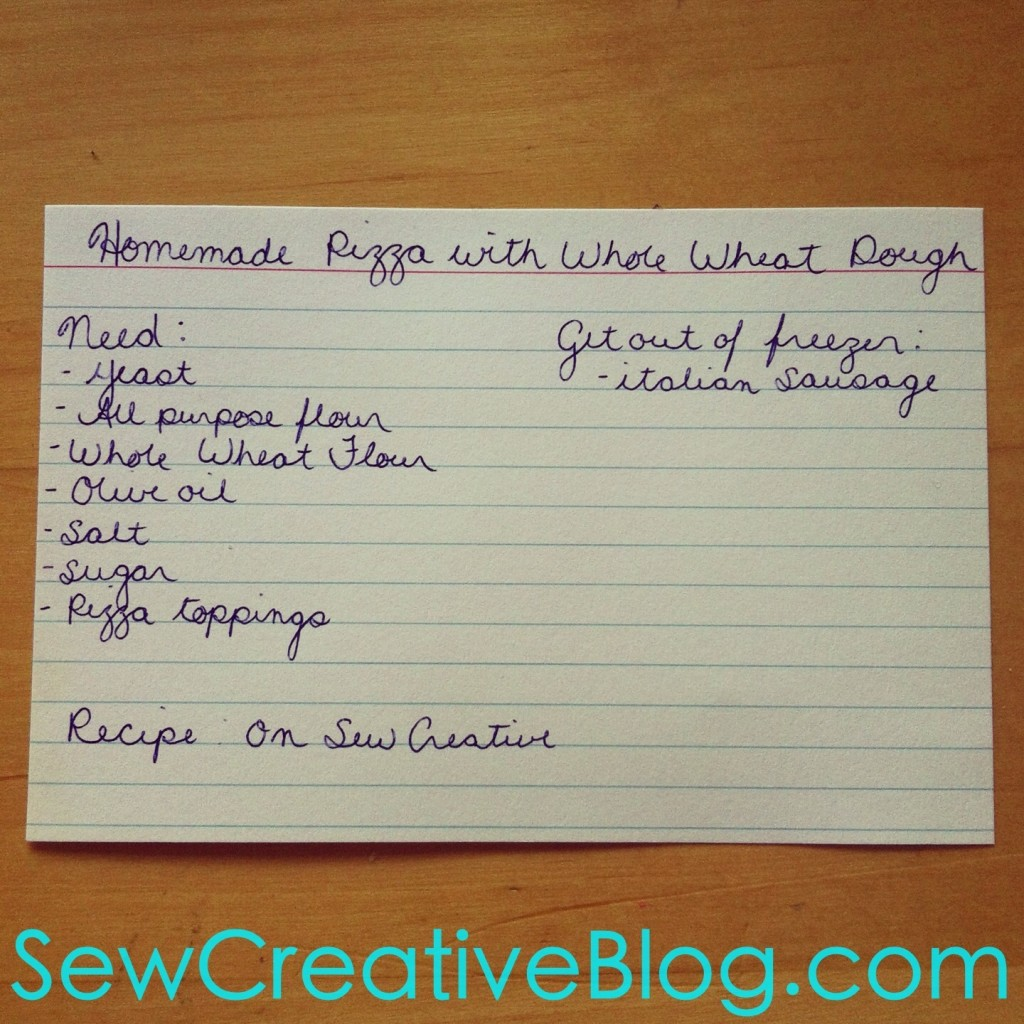 Homemade Whole Wheat Pizza Dough Menu Board Card From Sew Creative Blog 3