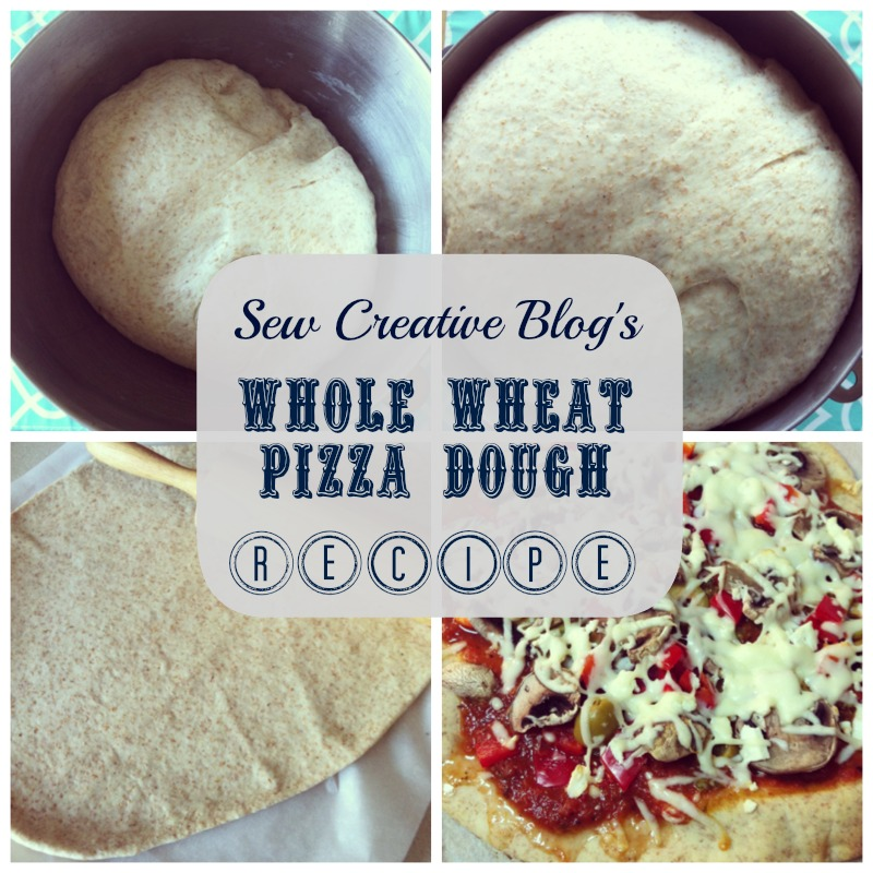Homemade Whole Wheat Pizza Dough Recipe from Sew Creative Blog 4