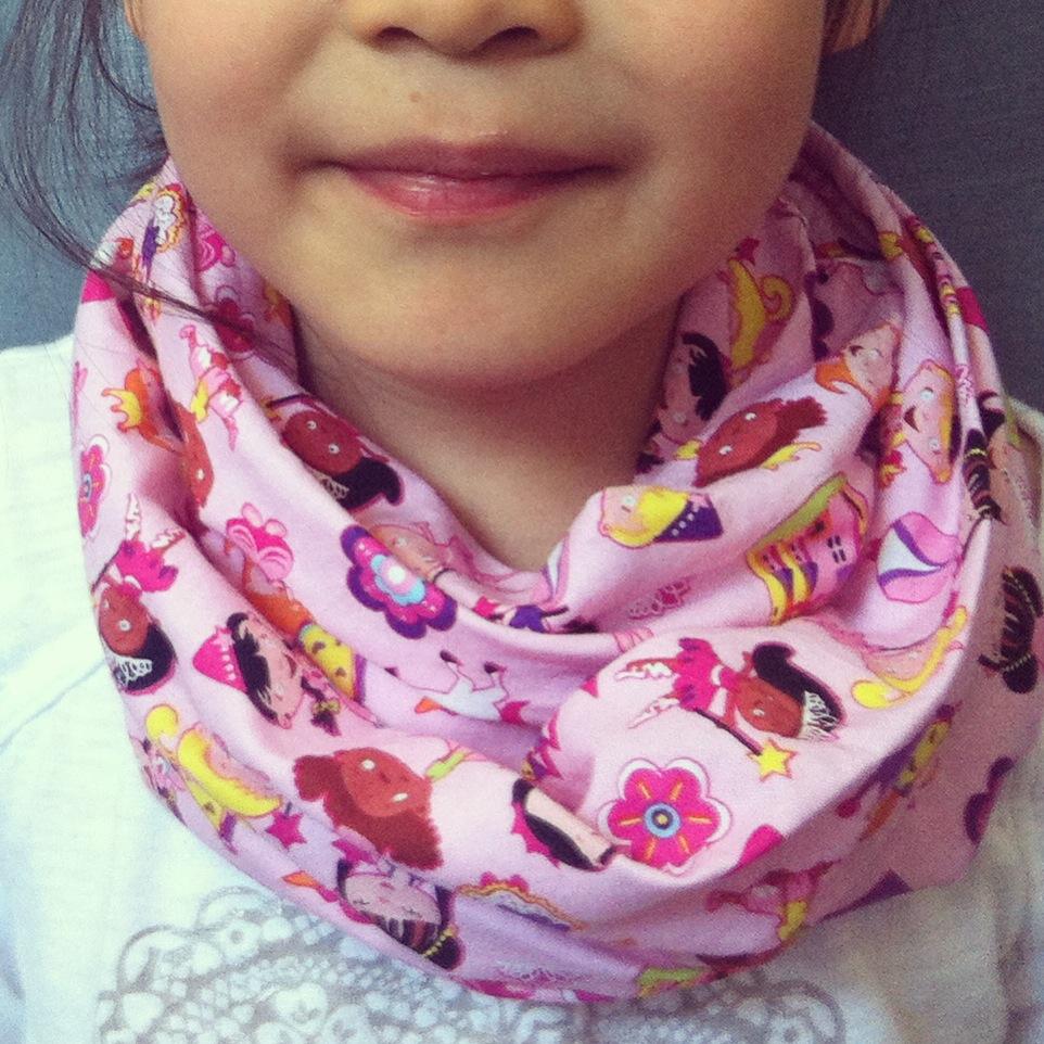 Lil Princess kids infinity scarf from Lilikoi Lane