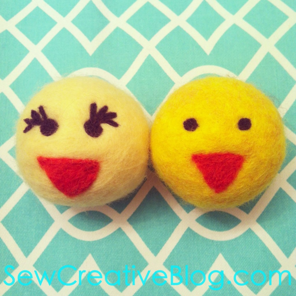 Needle Felted Chick Felted Balls