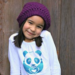 Sew Creative Crocheted Kids Slouch Hat Pattern- Great for Beginners