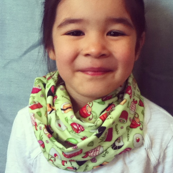 Sushi Please kids infinity scarf from Lilikoi Lane