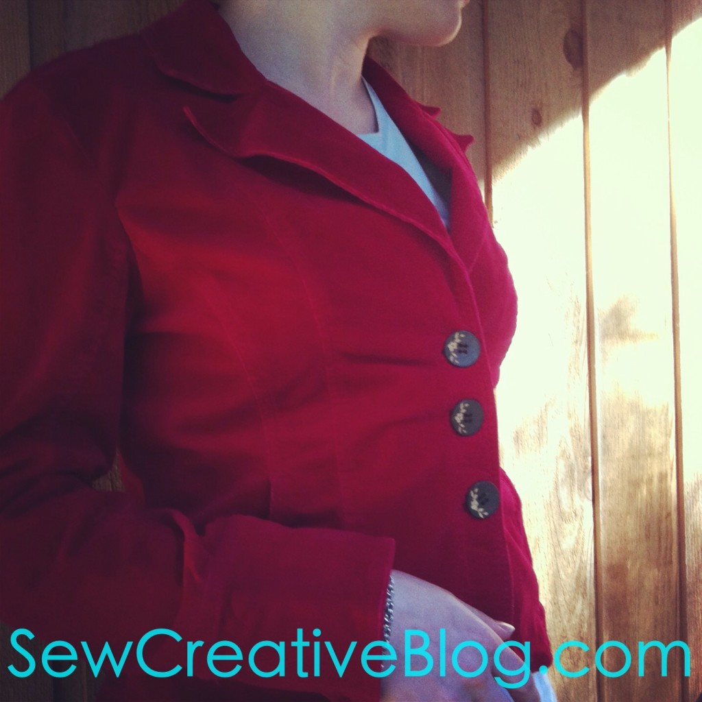 Thrift Store Find Re-invented jacket red